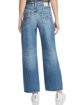 AG - Tomas High-Rise Baggy Straight-Leg Jeans in 20 Years Haste Destructed