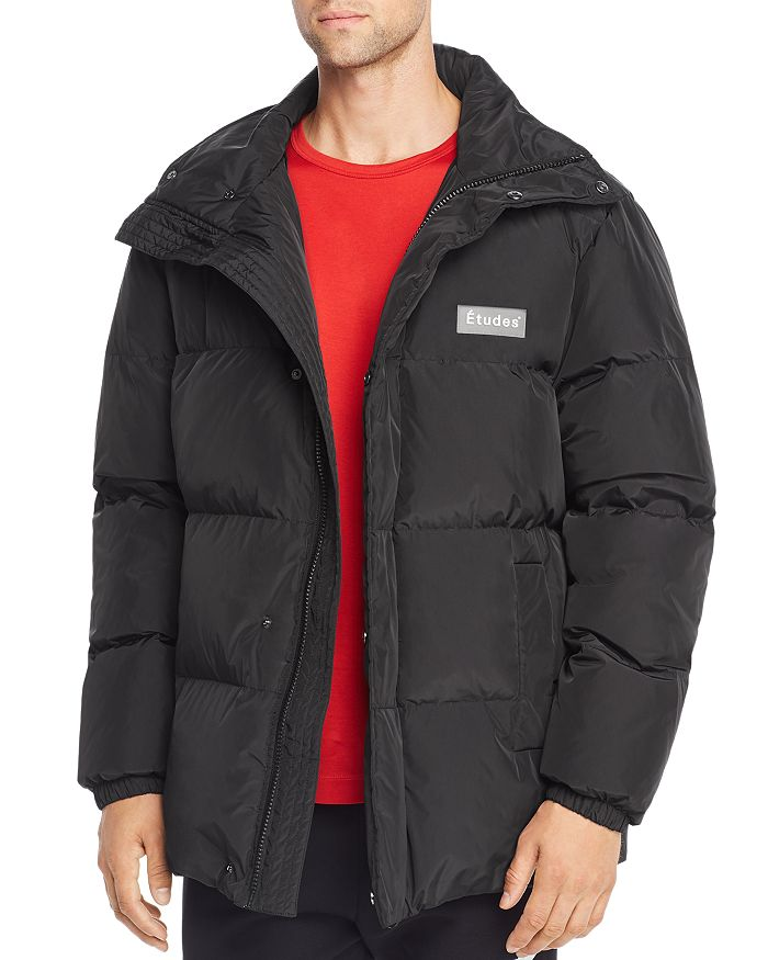 Etudes Studio Quilted Down Jacket In Black