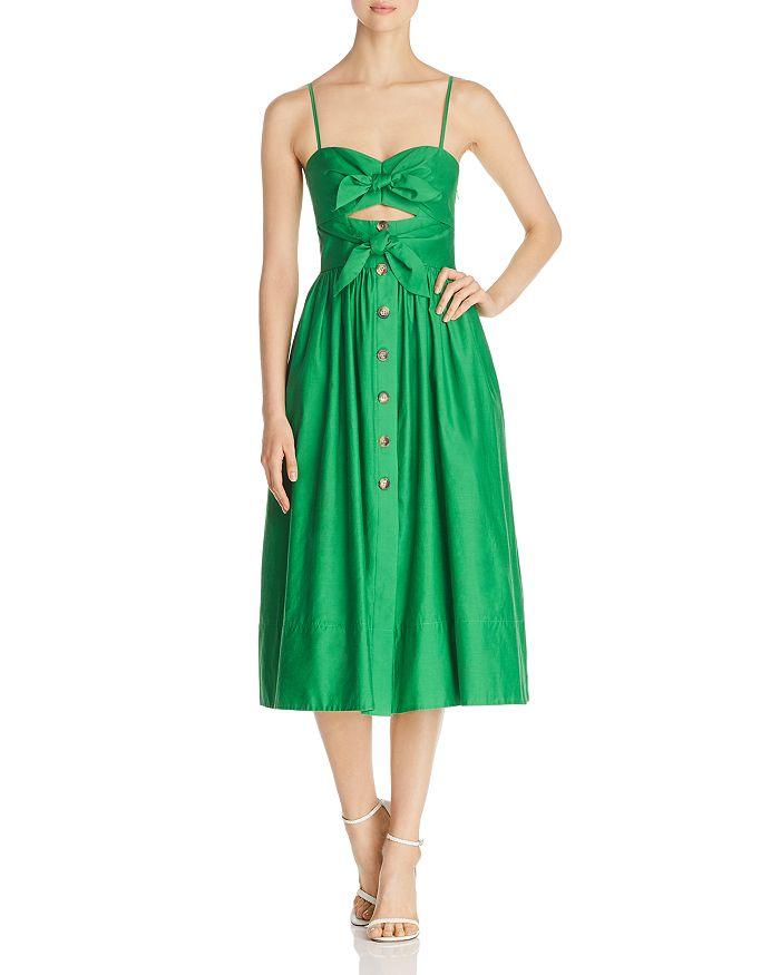 0da73b1a kate spade new york Tie-Front Midi Dress | Bloomingdale's
