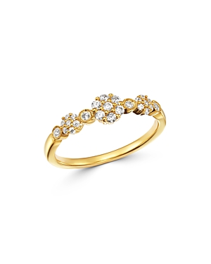 Bloomingdale's Diamond Cluster Band in 14K Yellow Gold, 0.25 ct. t.w. - 100% Exclusive