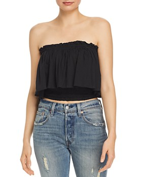 Tiare Hawaii - Kylie Off-the-Shoulder Ruffled Overlay Top
