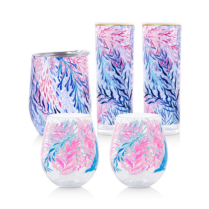 Lilly Pulitzer - Kaleidoscope Coral Acrylic Drinkware