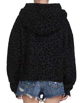 The Kooples - Oversized Leopard Cotton Hoodie