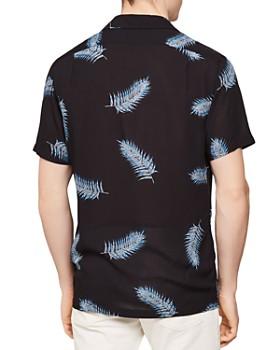 REISS - Donna Leaf Print Regular Fit Button-Down Shirt
