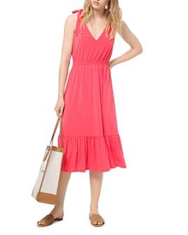 MICHAEL Michael Kors - Tie-Shoulder Jersey Midi Dress