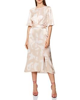 REISS - Arlo Abstract-Pattern Midi Dress