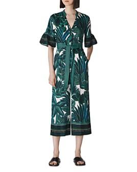 Whistles - Belted Leaf-Print Jumpsuit