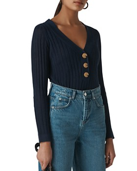 Whistles - Ribbed-Knit Top