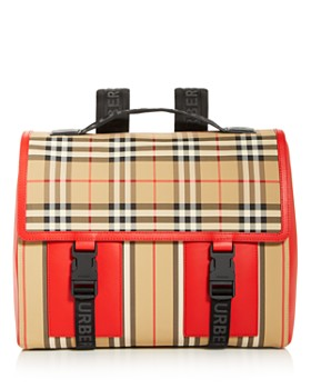 Burberry - Medium Nylon Vintage Striped Convertible Backpack