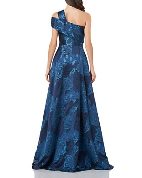 Carmen Marc Valvo Infusion - Asymmetric Floral Gown