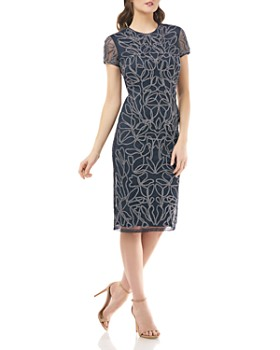 JS Collections - Metallic Cocktail Dress