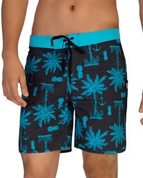 Hurley - Phantom Asylum Island-Print Swim Shorts