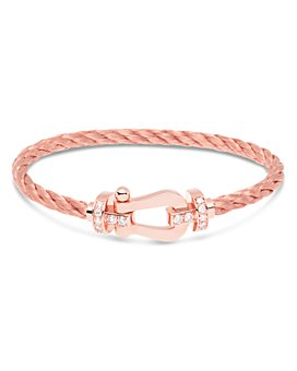 Fred - 18K Rose Gold Force 10 Diamond Large Buckle & Cable Options