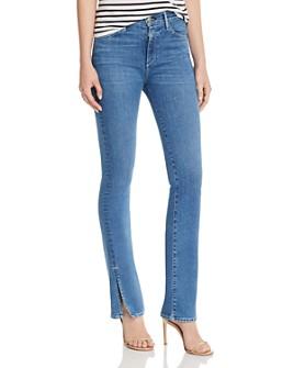 3x1 - High-Rise Slit-Hem Flared Jeans in Jaco