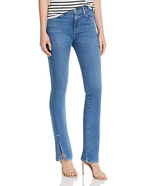 3x1 Jeans HIGH-RISE SLIT-HEM FLARED JEANS IN JACO