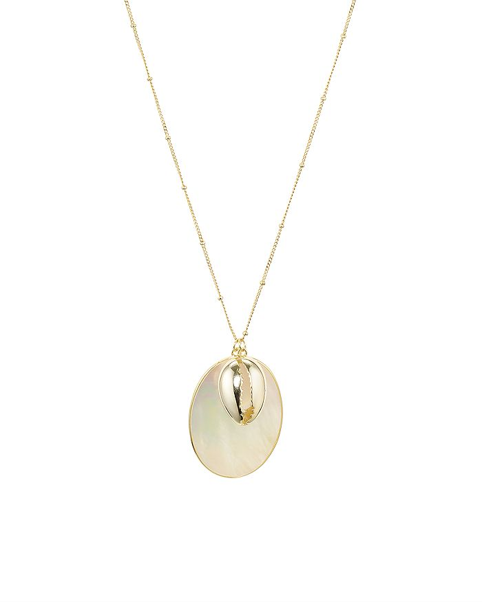 """Argento Vivo - Seychelle Mother-of-Pearl Pendant Necklace in 18K Gold-Plated Sterling Silver, 30"""""""