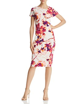 Donna Karan - Watercolor Floral Dress