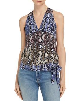 Parker - Kenna Snakeskin-Print Silk Wrap Top