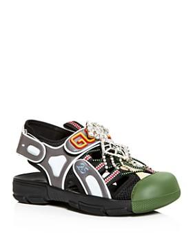 Gucci - Women's Crystal-Embellished Slingback Sandals