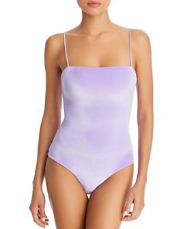 Paper London - Sting Ray Velvet One Piece Swimsuit