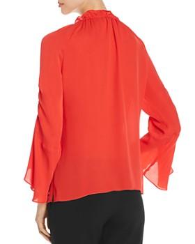 Kobi Halperin - Carolina Bell-Sleeve Silk Blouse