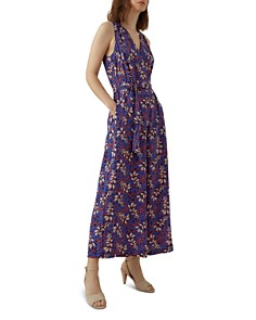 KAREN MILLEN - Botanical Silk Jumpsuit
