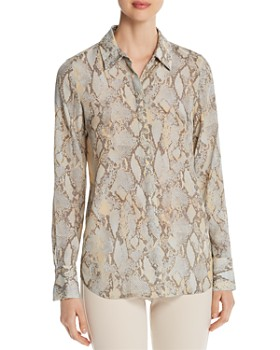 Lafayette 148 New York - Scottie Snake-Print Blouse