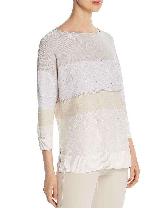 Lafayette 148 New York - Embellished Lightweight Sweater