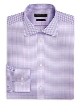 The Men's Store at Bloomingdale's - Double Check Regular Fit Dress Shirt