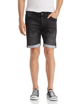 JACK + JONES - Icon Regular Fit Denim Shorts in Black