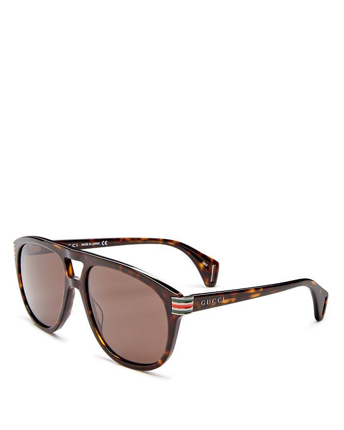 Gucci - Men's Brow Bar Aviator Sunglasses, 60mm