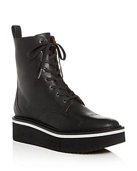 Clergerie - Women's British Cap-Toe Platform Boots