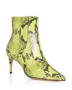 SCHUTZ - Women's Bette Snake-Embossed High-Heel Booties