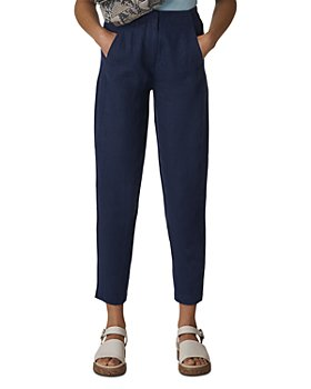 Whistles - Cropped Tapered Linen Pants