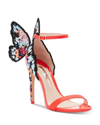 Embroidered Butterfly High-Heel Sandals
