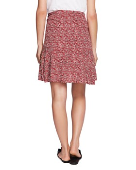 1.STATE - Ruched Floral-Print Skirt