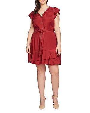 1.state Plus Flutter-Sleeve Dress