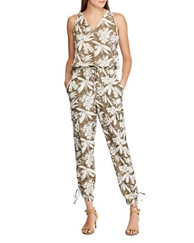 Ralph Lauren - Sleeveless Botanical-Print Jumpsuit