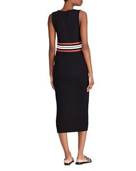 Ralph Lauren - Sleeveless Waist-Stripe Midi Dress
