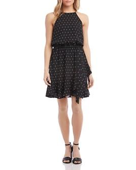 Karen Kane - Sleeveless Dot-Print Dress
