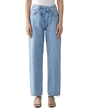 Agolde Suburbia Criss-Cross High-Rise Jeans