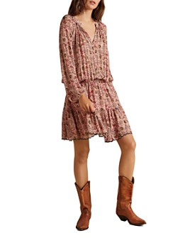 Velvet by Graham & Spencer - Aubrey Printed Peasant Dress