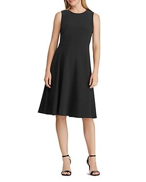 402b47fc5f30e8 Ralph Lauren Lauren Jersey Fit-And-Flare Dress In Black | ModeSens