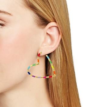 BAUBLEBAR - Annaelle Heart Hoop Earrings