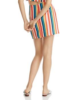 AQUA - Rainbow-Stripe Skirt - 100% Exclusive