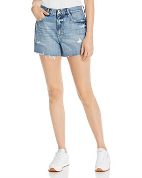 Pistola - Ace High-Rise '90s Cutoff Denim Shorts in Medium Blue