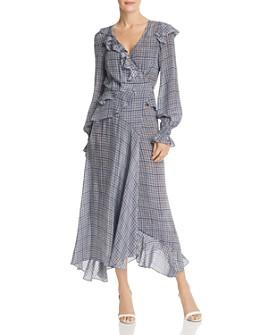 Preen Line - Maieka Contrast-Back Gingham Dress