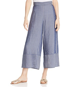 Amanda Uprichard - Ravine Metallic Striped Pants