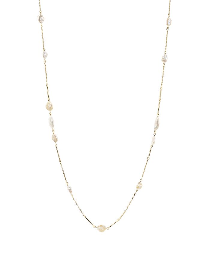 Kendra Scott - Sabrina Cultured Freshwater Pearl Station Necklace, 40""