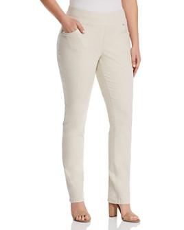 JAG Jeans Plus - Peri Straight-Leg Jeans in Stone